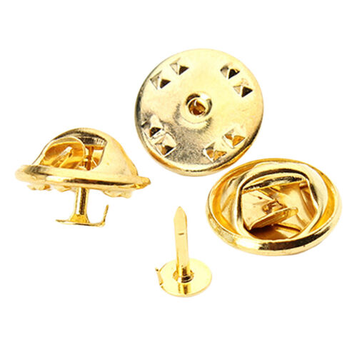 100pcs Butterfly Clutch Tie Tacks Blank Pins with Clutch Back Platinum/Gold