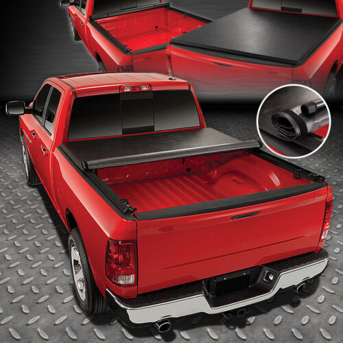 FOR 04-14 FORD F150 FLEETSIDE 6.5FT TRUCK BED SOFT VINYL ROLL-UP TONNEAU COVER <br/> Roll-Up Soft Vinyl Tonneau Cover w/Side Mounting Rails