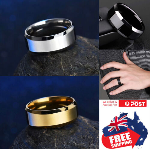 Titanium Stainless 8mm High Polished Men Women Wedding Band Comfort Ring 1pc <br/> 10% EXTRA OFF BIG SALE,NO MIN SPEND,CODE:PANTSUIT,HURRY
