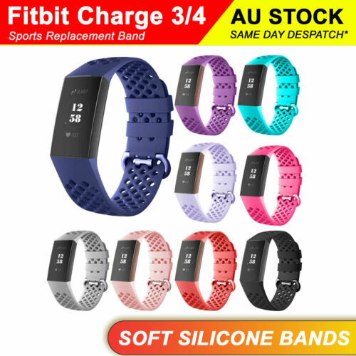 Fitbit Charge 3 Charge 4 Sports Replacement Watch Band Wrist Strap Wristband