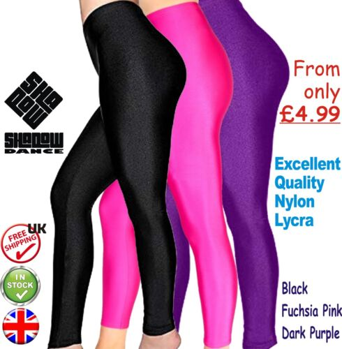 Girls Shiny Dance Footless Leggings Lycra Gym leotards ballet yoga children (CC)