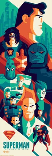 SUPERMAN THE ANIMATED SERIES TOM WHALEN 2018 Limited edition print 250 12x36