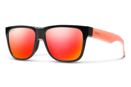 Occhiali da sole Sunglasses SMITH LOWDOWN 2 SQP X6 BLACK ORANGE FLU 100% SIZE 55