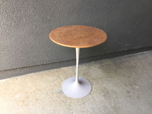 VINTAGE KNOLL EERO SAARINEN TULIP WOOD SIDE TABLE MID CENTURY MODERN EAMES ERA