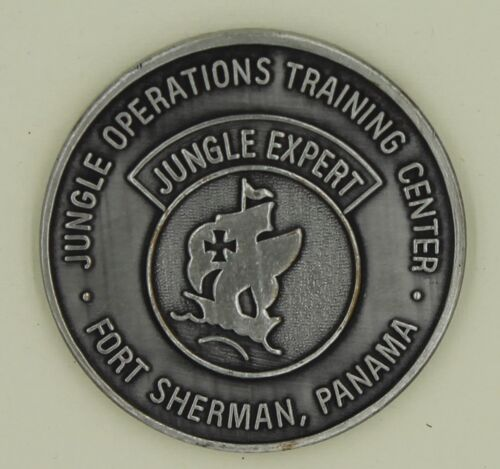 Jungle Expert Operations Training Center Ft Sherman Panama Army Challenge Coin POriginal Period Items - 13983