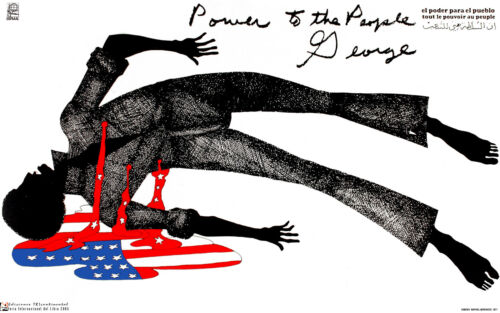 Political POSTER.POWER TO PEOPLE.American Civil Rights.Black Panthers art.64