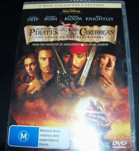 Pirates of The Caribbean Curse Of The Black Pearl (Australia Region 4) 2 DVD New