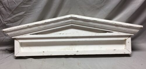 Antique Window Header Pediment Greek Wood and Metal Shabby Vintage Chic 25-19M