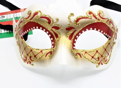 Maschera Veneziana Decorata A Mano Made In Italy