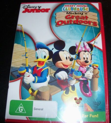 Mickey Mouse Clubhouse: Mickey's Great Outdoors Disney JR (Aust Reg 4) DVD – New