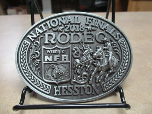 """NEW!!!!  2018 Hesston National Finals Rodeo """"Adult"""" Belt Buckle"""
