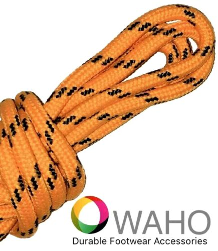 Heavy Duty Int'l Orange Shoe / Boot Laces Made With Black Dupont™ Kevlar®