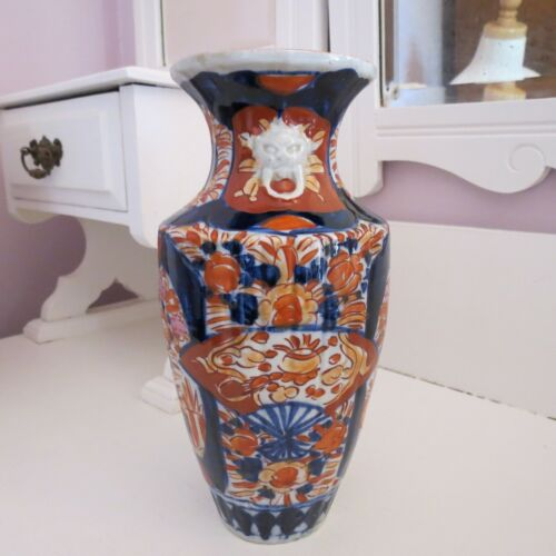 Large antique imari vase late Victorian early Edwardian