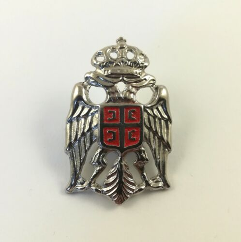 Cockade Kokarda Coat of Arms Grb Srbije Silver Color SerbiaOther Militaria - 135