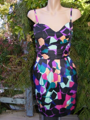 NEW Ice Design Abstract Print DRESS Size XS-10 RRP$55 This seasons colours!