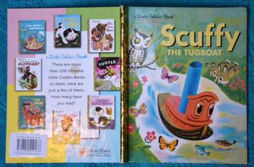 Little Golden Book: SCUFFY the Tugboat CLASSIC HARDCOVER. NEW SERIES BACK COVER