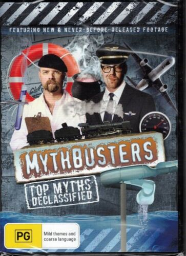 MYTHBUSTERS Top Myths Declassified DVD NEW & SEALED Free Post