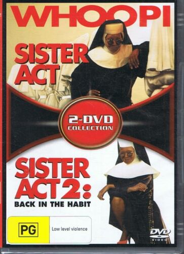 Sister Act + Sister Act 2: Back In The Habit (2x DVD Set) NEW & SEALED Free Post