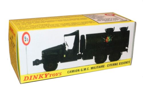 Dinky toys boîte repro 823 camion GMC militaire citerne essence