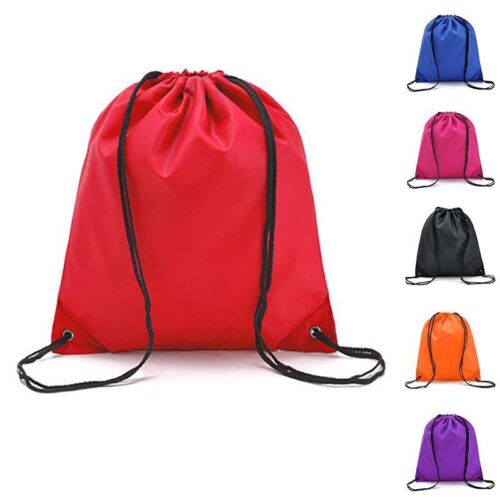 Drawstring Backpack Waterproof Clothes Shoes Storage Bag Travel Outdoor Backpack