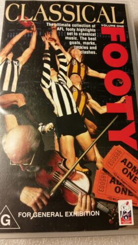 CLASSICAL FOOTY AFL VOLUME ONE VHS TAPE