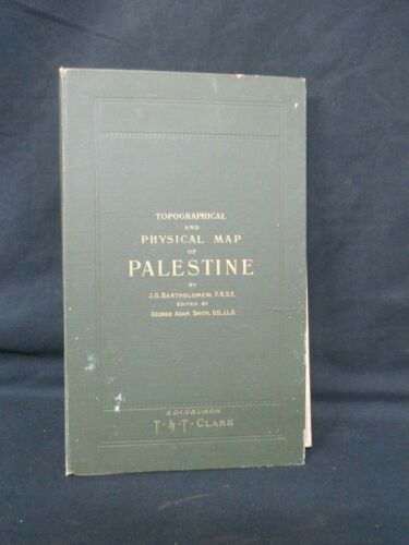 new topographical Physical and Biblical MAP OF PALESTINE 1901 Bartholomew H607
