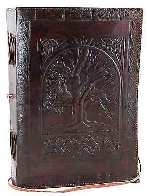 LEATHER JOURNAL WITH EMBOSSED BLANK BIG HANDMADE DIARY MADE WITH HANDMADE PAPERS