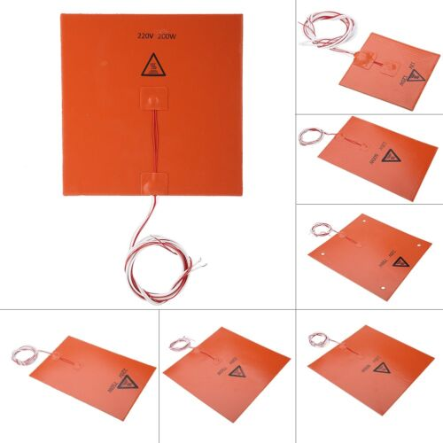 600/750W 220V Silicone Heater Pad HeatBed Heating Mat Heat Bed For 3D Printer