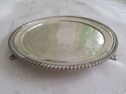 Georgian Sterling Silver Salver or Small Tray London 1815