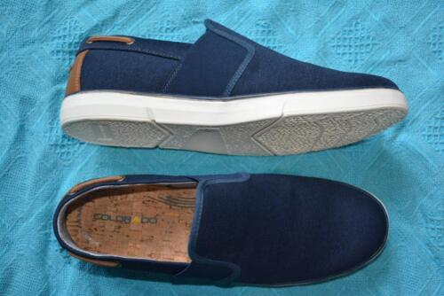 COLORADO NAVY Leather/Canvas CASUAL SHOES. Mens Size 9. New RRP $99.95.SLIP ON