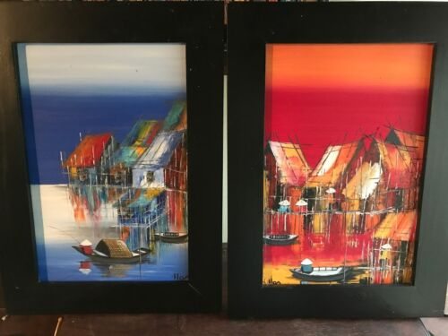 Original Oil Paintings of the floating Villages of Cambodia