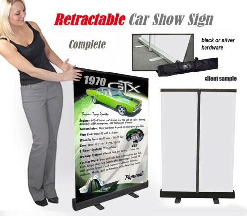 Car Show or Auction Venue Display & Tote Bag YOUR CAR