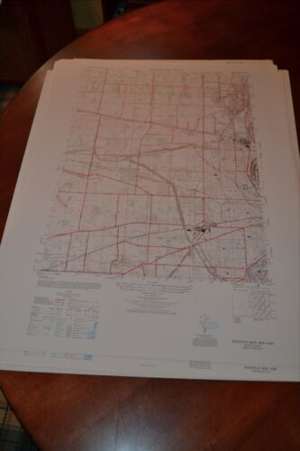 1940's Army topographic map Rochester West New York -Sheet 5470 II NW