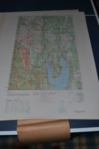 1940's Army (like USGS) Topo map Quilcene Washington Sheet 1479 IV