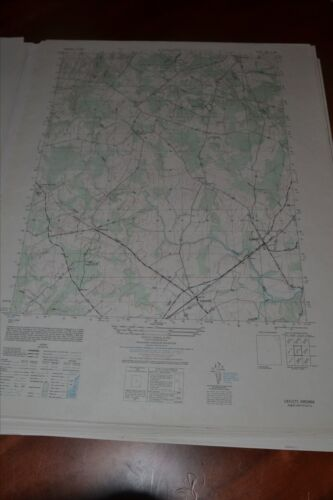 1940's Army topographic map Catlett Virginia -Sheet 5461 II NW