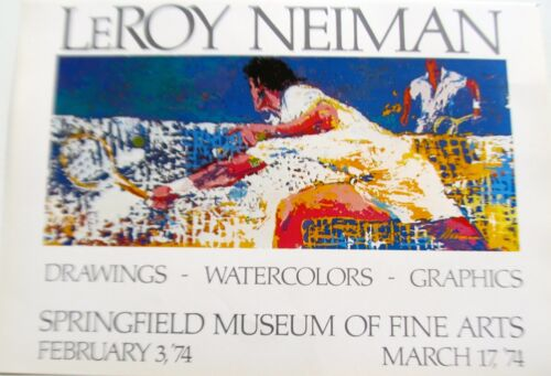 LeRoy Neiman Tennis Art Poster For His Show  Springfield Museum of Art 16x11