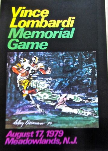 LeRoy Neiman Poster-Football Art to Advertise 1979 Vince Lombardi Football Game
