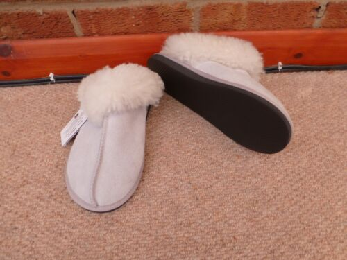 Genuine Sheepskin Mule Slippers Sizes 3 to 13   Hard Sole Karu Scuffs