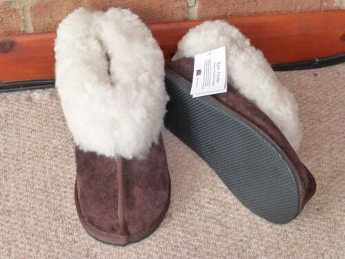Genuine Sheepskin Slippers  Size 3 to 14 Karu Hard Sole Bootie Slippers