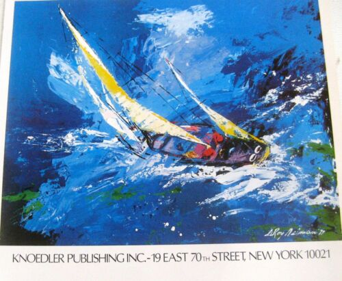LeRoy Neiman Poster for Knoedler Publishing 16x11 Unsigned Sailing Art