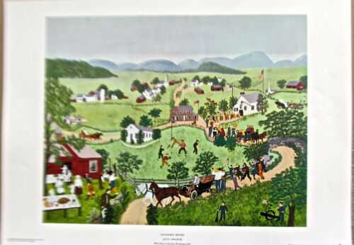 Grandma Moses Reprint of It July 4 ~ 20X14 Offset Lithograph Unsigned