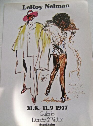 LeRoy Neiman Poster for his Show at Galarie O Bosc Paris 16x11 Offset Lithograph