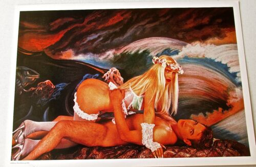 Jeff Koons Exhibition Poster -lIona with Ass Up 1990 Erotic Female --ENG 17x12