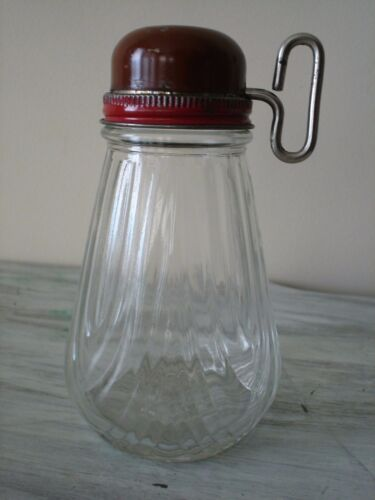 Antique Glass Nut Chopper with Tin Lid and Handle Excellent Condition