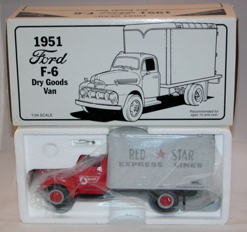 "First Gear Camion Ford F-6 1951 "" Red Star"" Express Lines Neuf en boîte (# A11)"