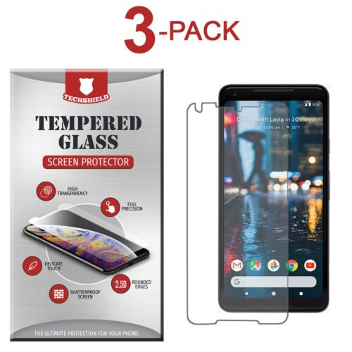 (3-Pack) Tempered Glass Film Screen Protector For Google Pixel 2 XL