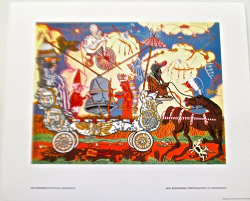 Red Grooms-The Bicentennial Bandwagon 1976 17X14 Offset Lithograph Unsigned