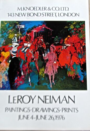 LeRoy Neiman Poster Horse Racing Art for Knoedler Publishing 16x11 Unsigned