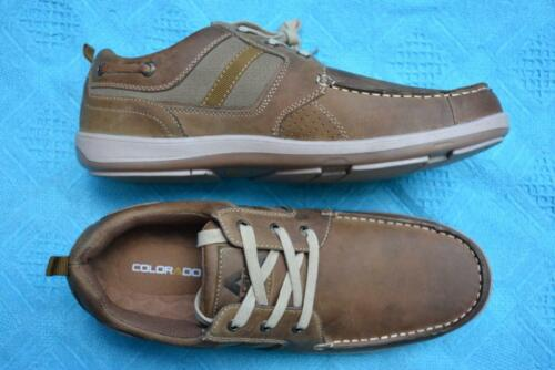 COLORADO Brown Boat Style SHOES. Mens Size UK-10/US-11. New RRP $99.95. LACE-UP