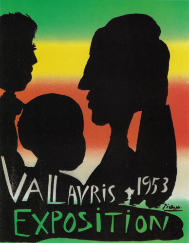 PABLO PICASSO POSTER ART (PRINT) EXPO VALLAURIS FRANCE FAMILY IN SILHOUETTE
